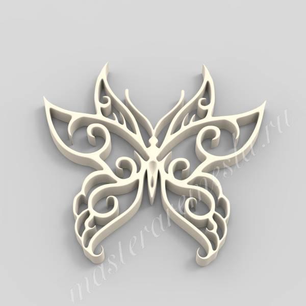 3D ЧПУ модель бабочка