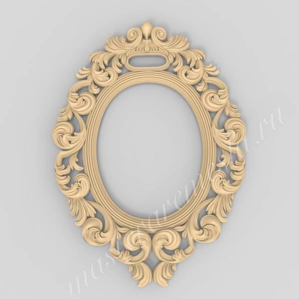 Купить 3D модель Обрамление для зеркала7