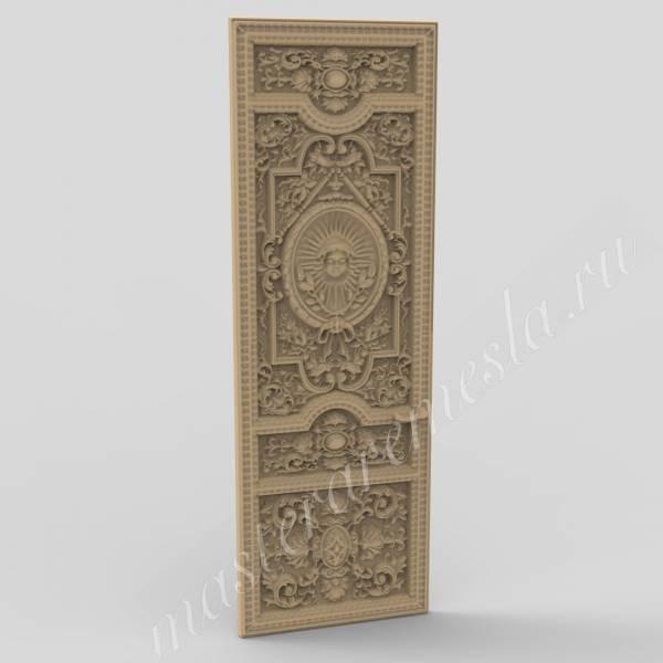 3D ЧПУ модель Дверь 5