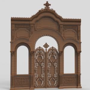 Купить 3д модели храмовой мебели для ЧПУ
